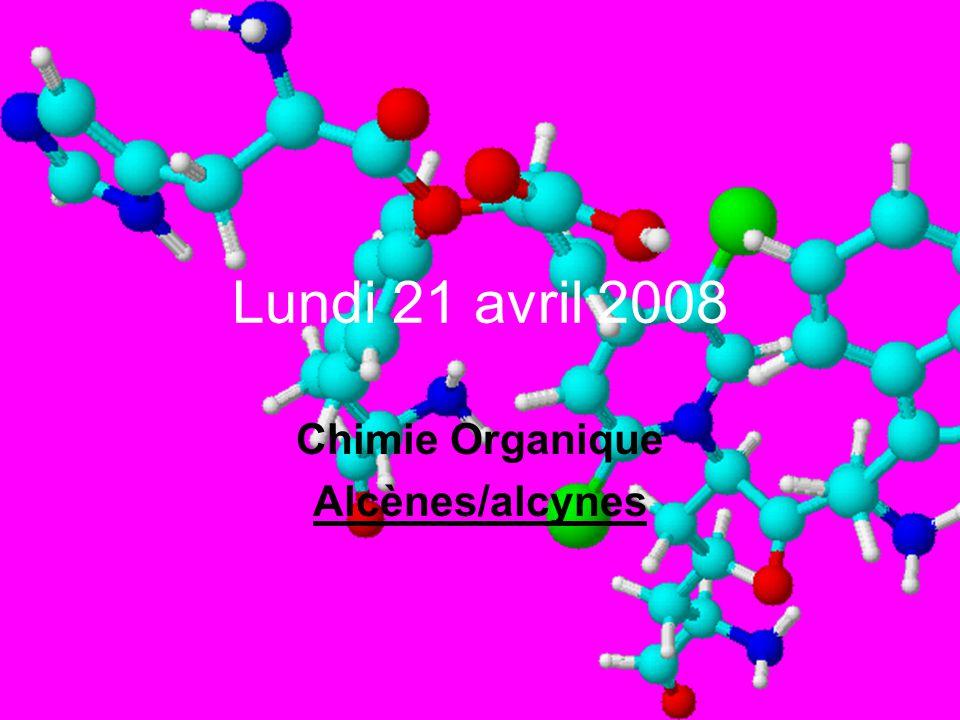 Chimie Organique Alcènes/alcynes