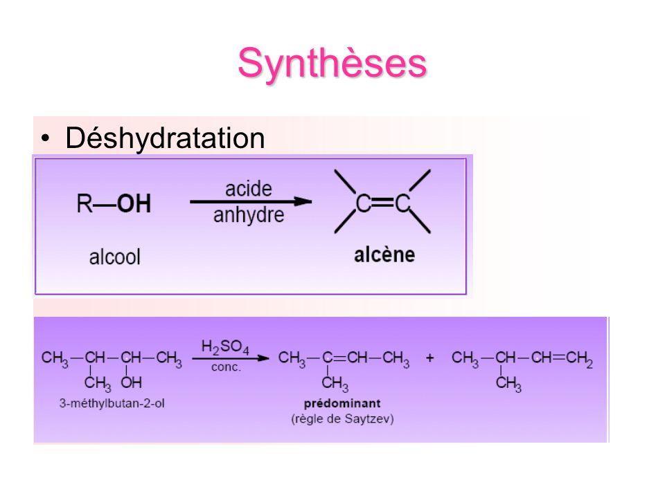 Synthèses Déshydratation