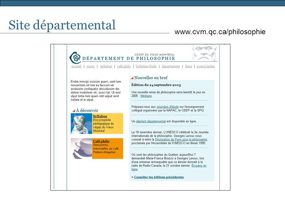 Site départemental www.cvm.qc.ca/philosophie