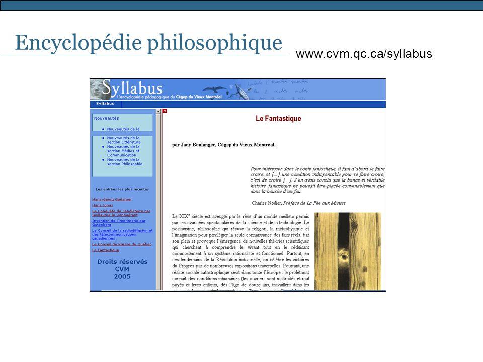 Encyclopédie philosophique