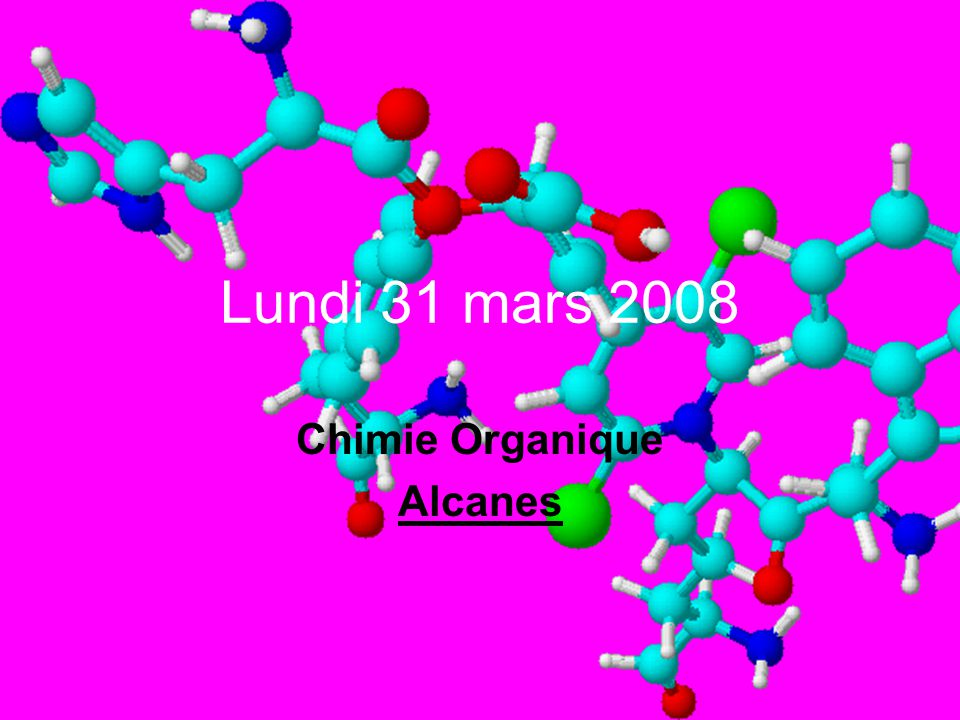 Chimie Organique Alcanes