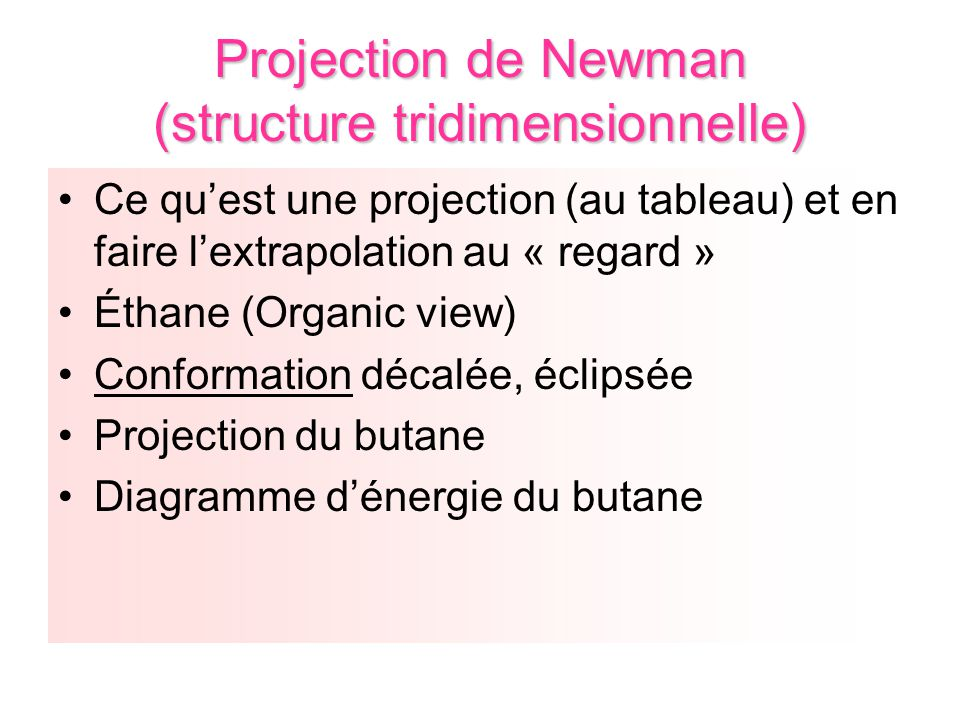 Projection de Newman (structure tridimensionnelle)