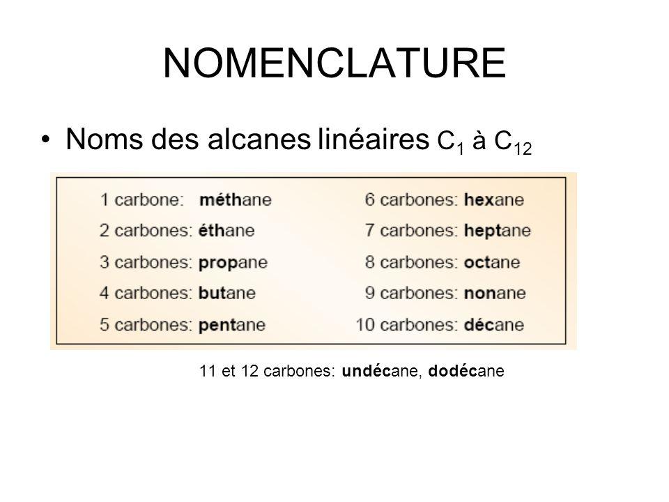 11 et 12 carbones: undécane, dodécane