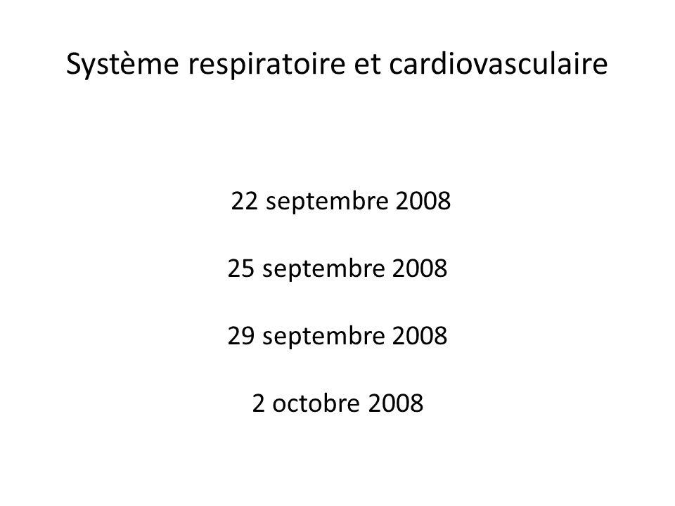 Système respiratoire et cardiovasculaire