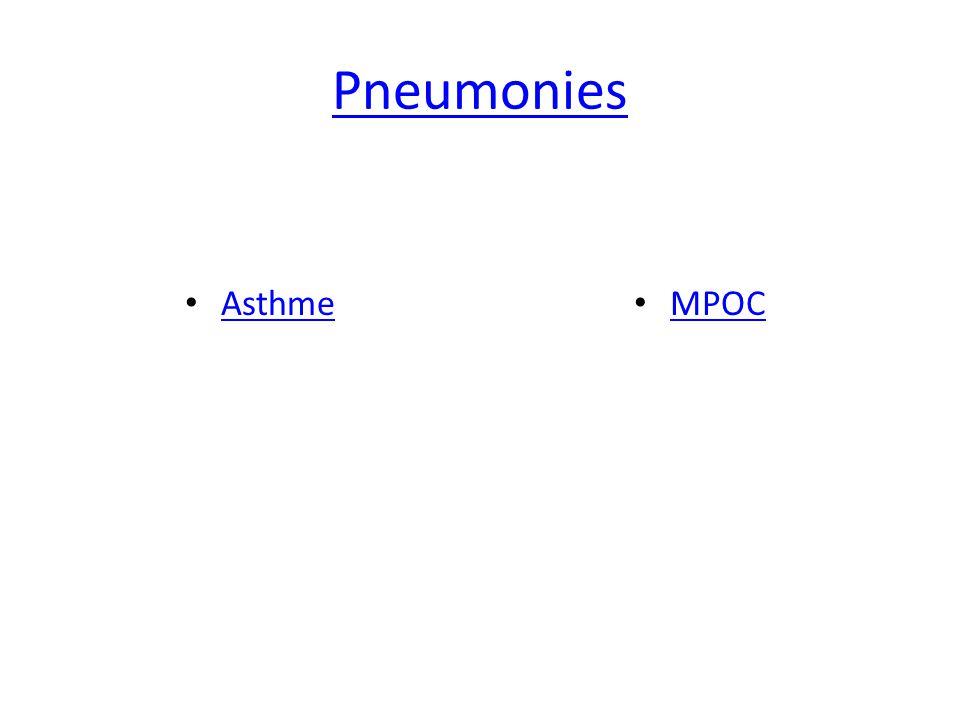 Pneumonies Asthme MPOC