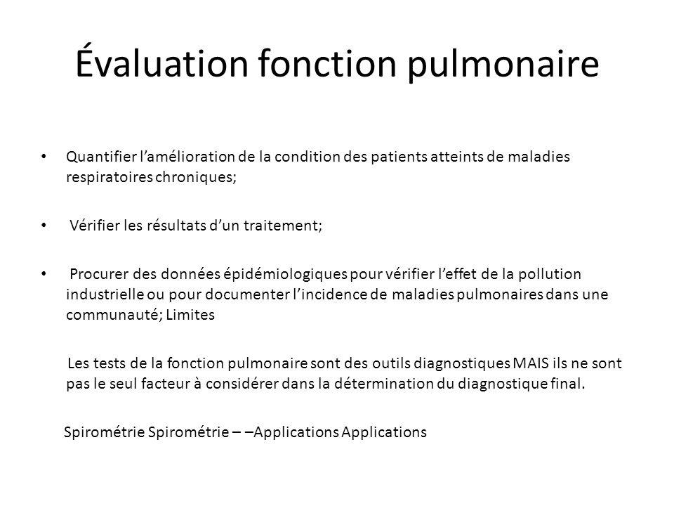 Évaluation fonction pulmonaire