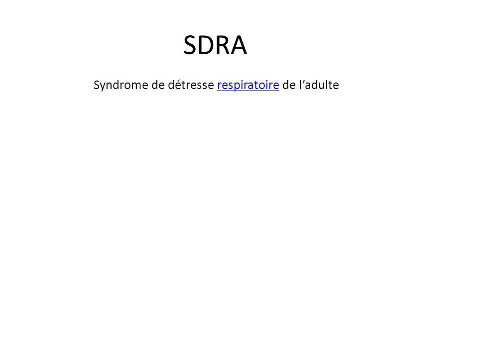Syndrome de détresse respiratoire de l'adulte