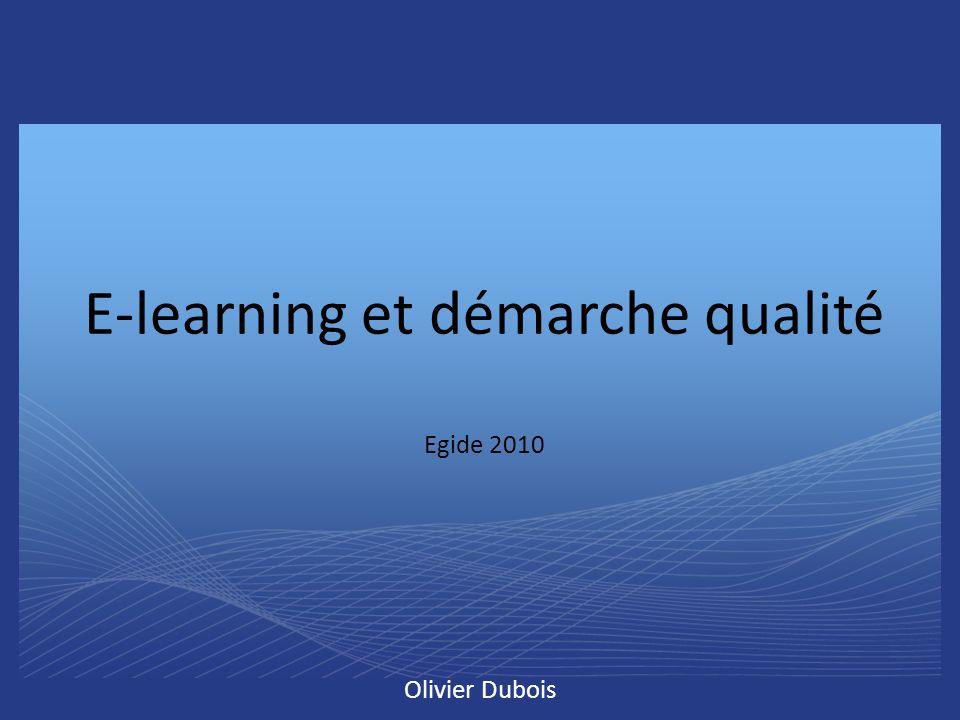 E-learning et démarche qualité Egide 2010