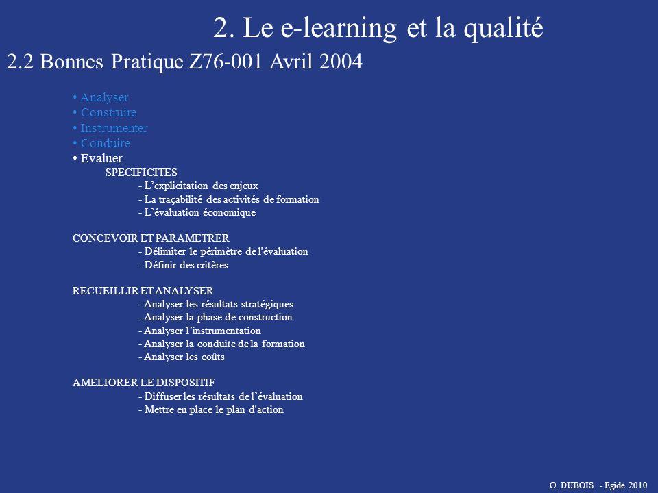 2. Le e-learning et la qualité
