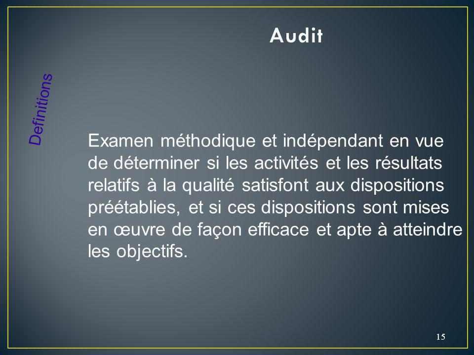 Audit Definitions.