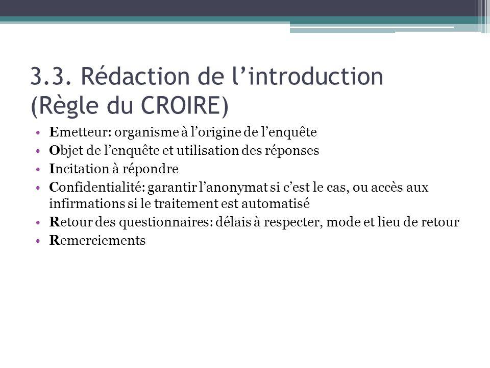 3.3. Rédaction de l'introduction (Règle du CROIRE)