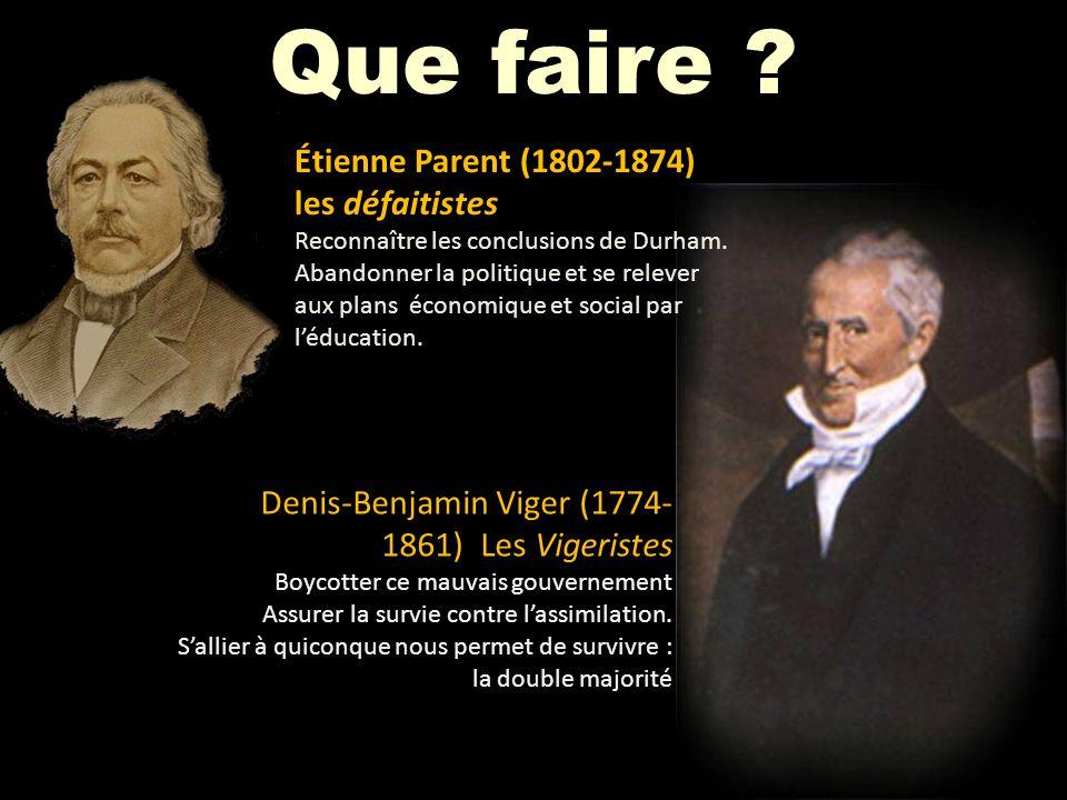 Que faire Étienne Parent (1802-1874) les défaitistes