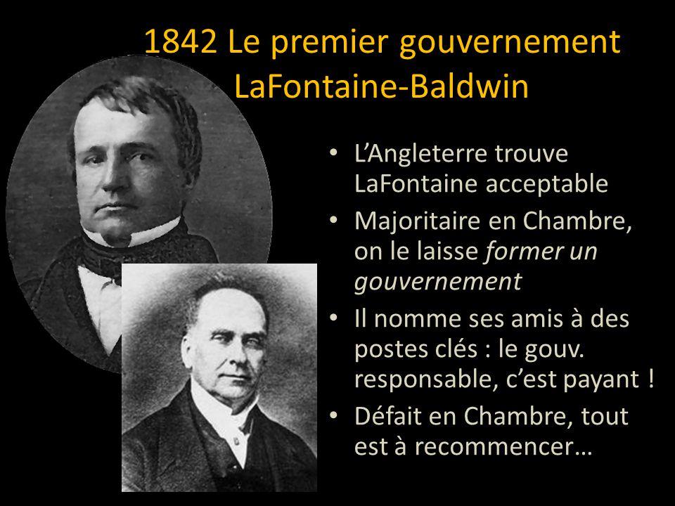 1842 Le premier gouvernement LaFontaine-Baldwin