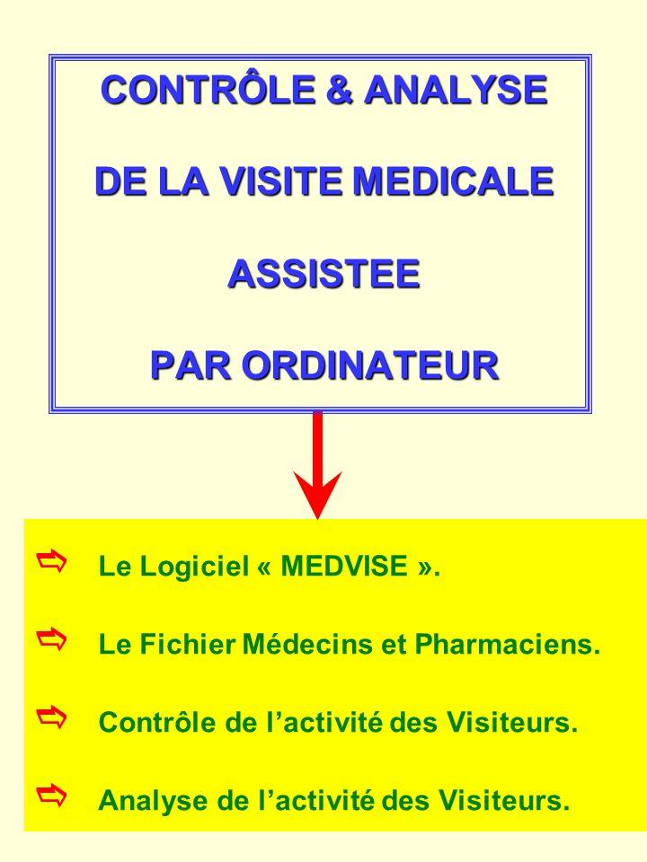 CONTRÔLE & ANALYSE DE LA VISITE MEDICALE ASSISTEE PAR ORDINATEUR