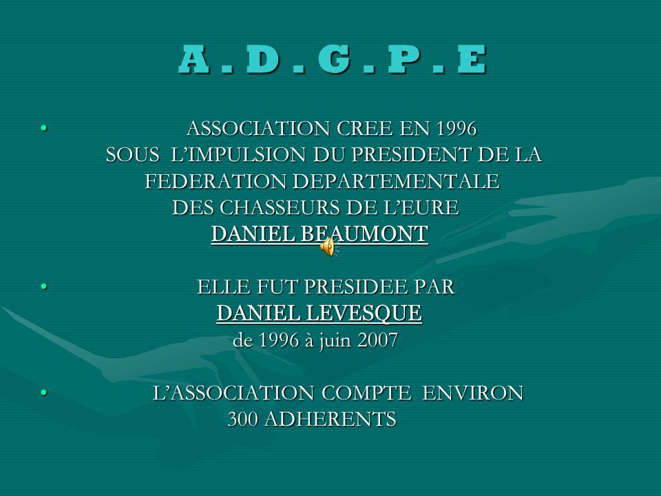 A . D . G . P . E ASSOCIATION CREE EN 1996