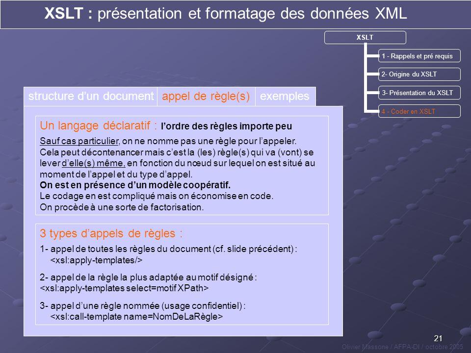 XSLT : présentation et formatage des données XML
