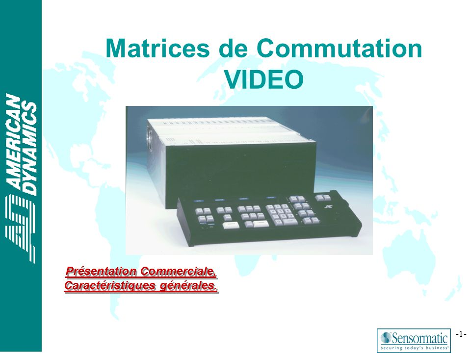 Matrices de Commutation VIDEO