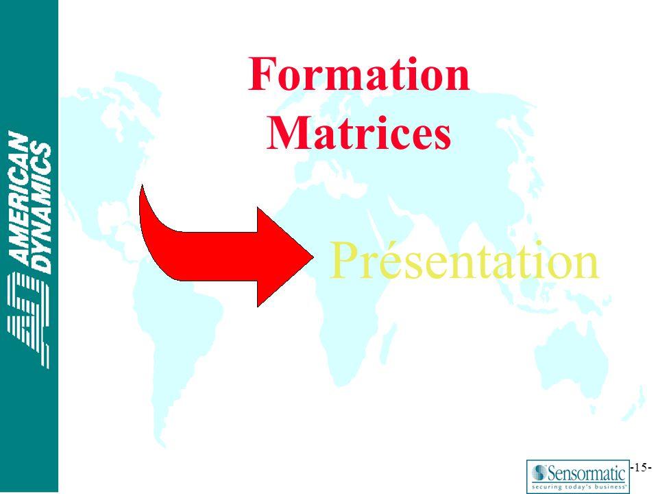 Formation Matrices Présentation