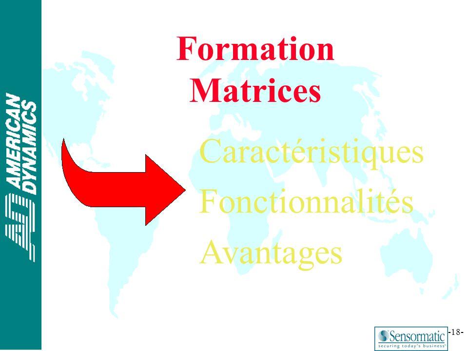Formation Matrices Caractéristiques Fonctionnalités Avantages