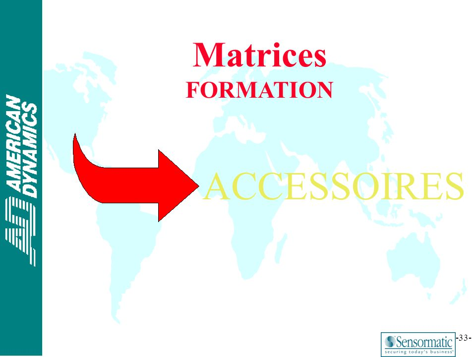 Matrices FORMATION ACCESSOIRES