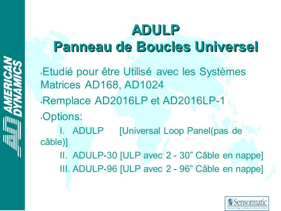 ADULP Panneau de Boucles Universel