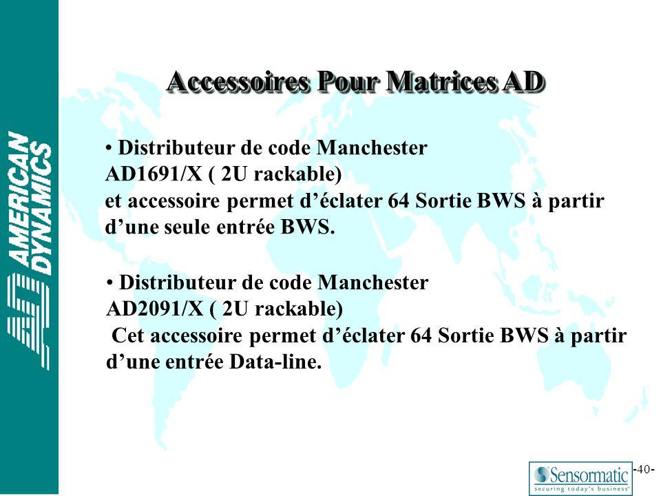 Accessoires Pour Matrices AD