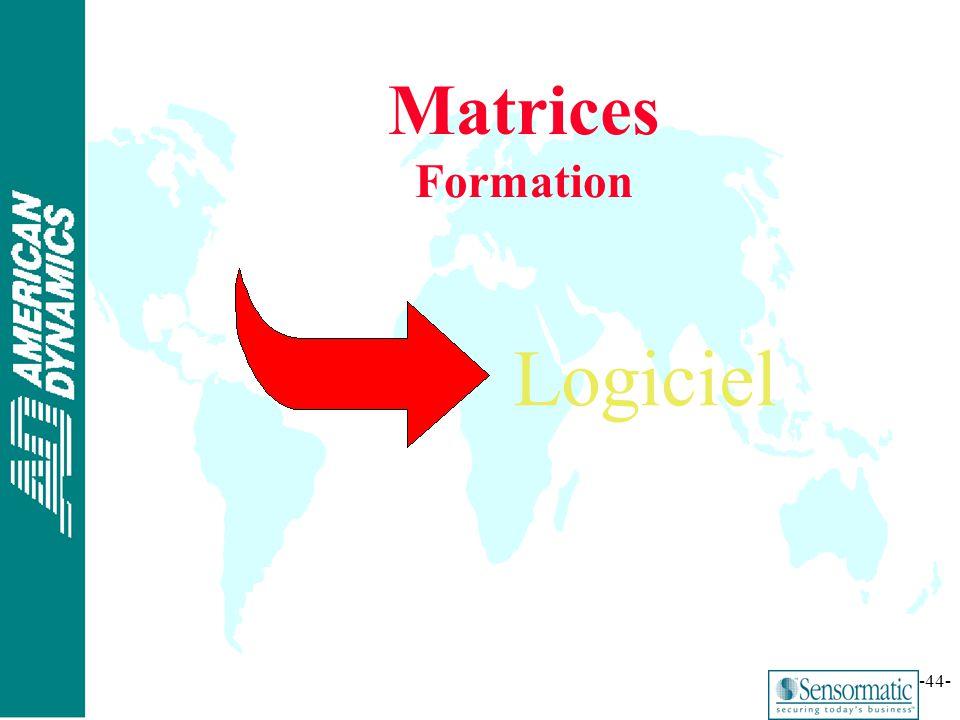 Matrices Formation Logiciel