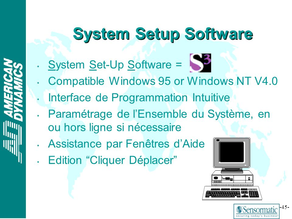 System Setup Software System Set-Up Software =