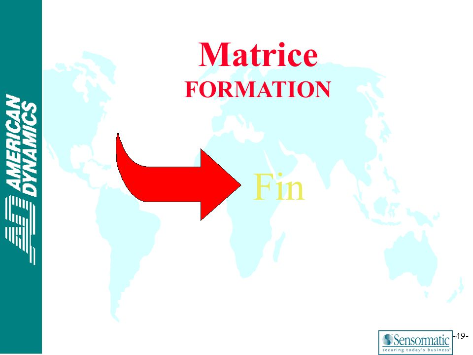 Matrice FORMATION Fin