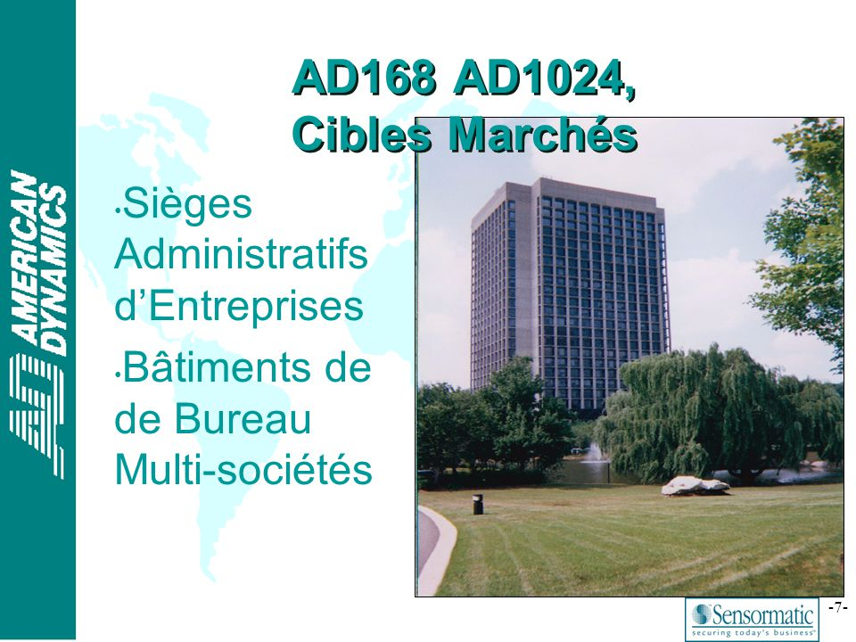 AD168 AD1024, Cibles Marchés Sièges Administratifs d'Entreprises