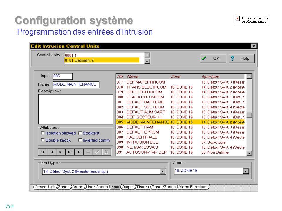 Configuration système