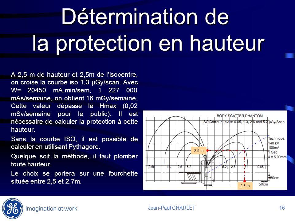 Détermination de la protection en hauteur