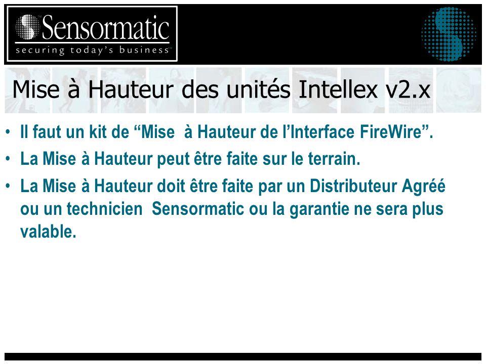 Mise à Hauteur des unités Intellex v2.x