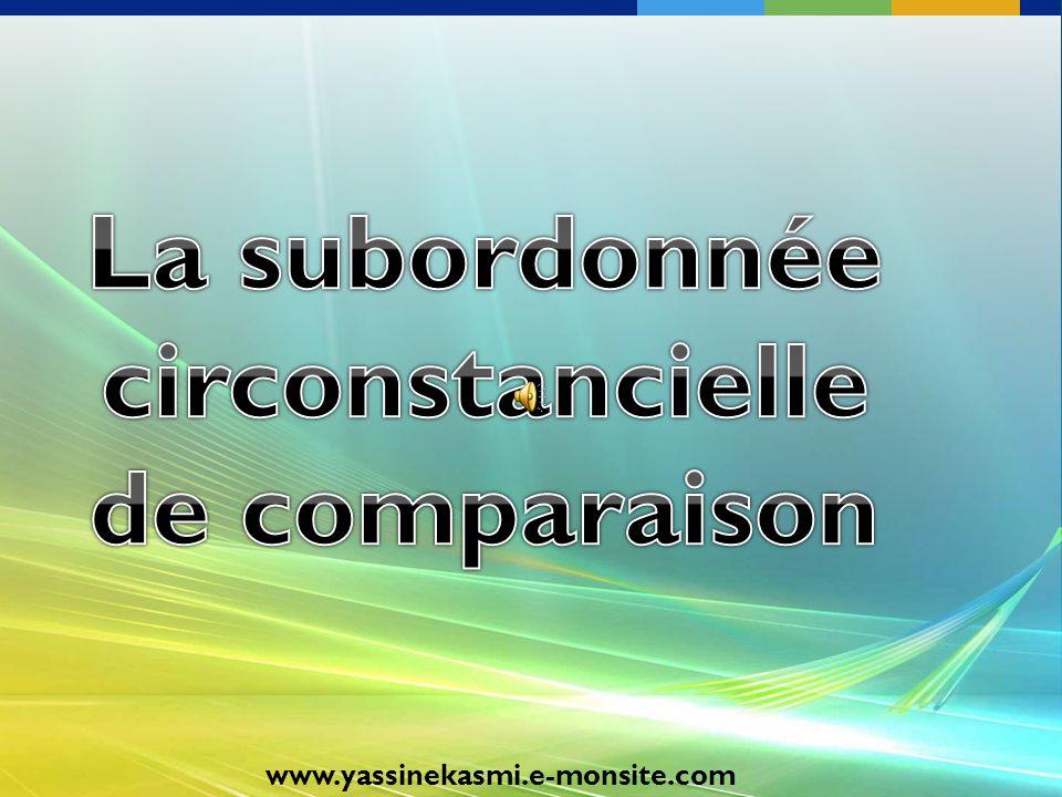 La subordonnée circonstancielle de comparaison