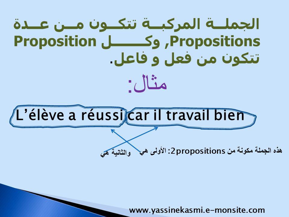 الجملة المركبة تتكون من عدة ,Propositions وكل Proposition تتكون من فعل و فاعل.