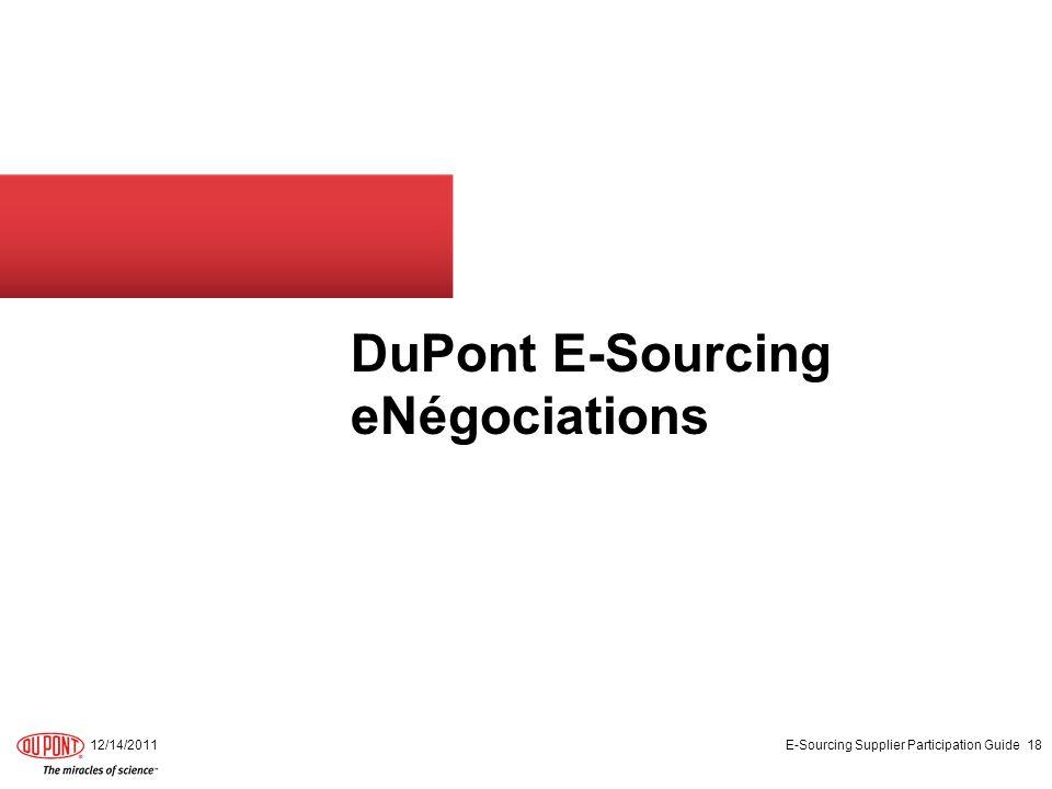 DuPont E-Sourcing eNégociations