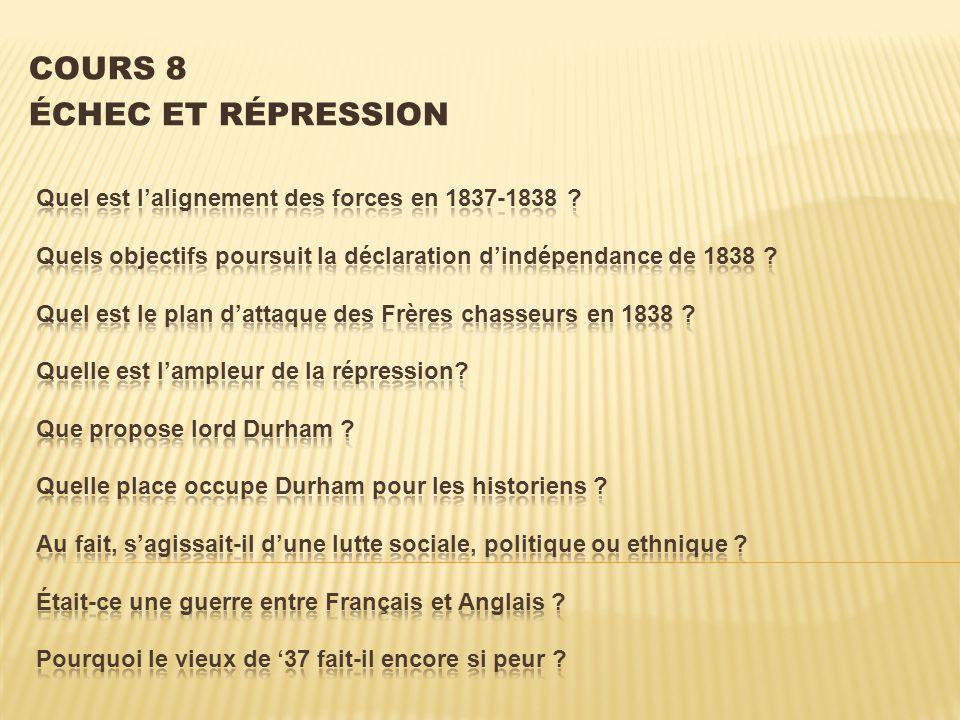 COURS 8 ÉCHEC ET RÉPRESSION