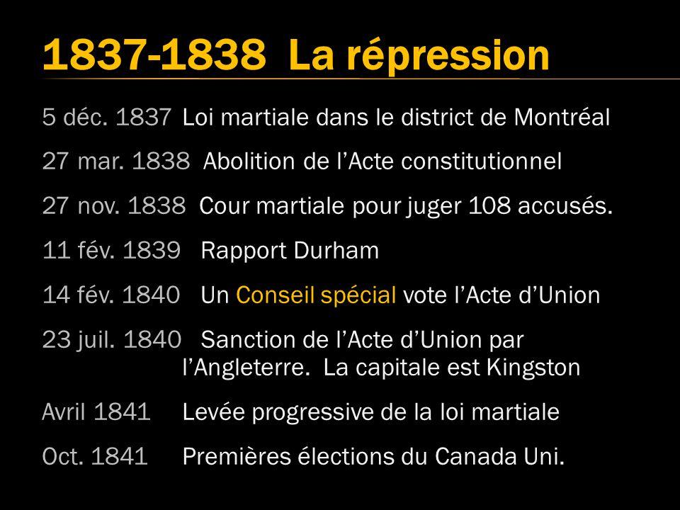 1837-1838 La répression