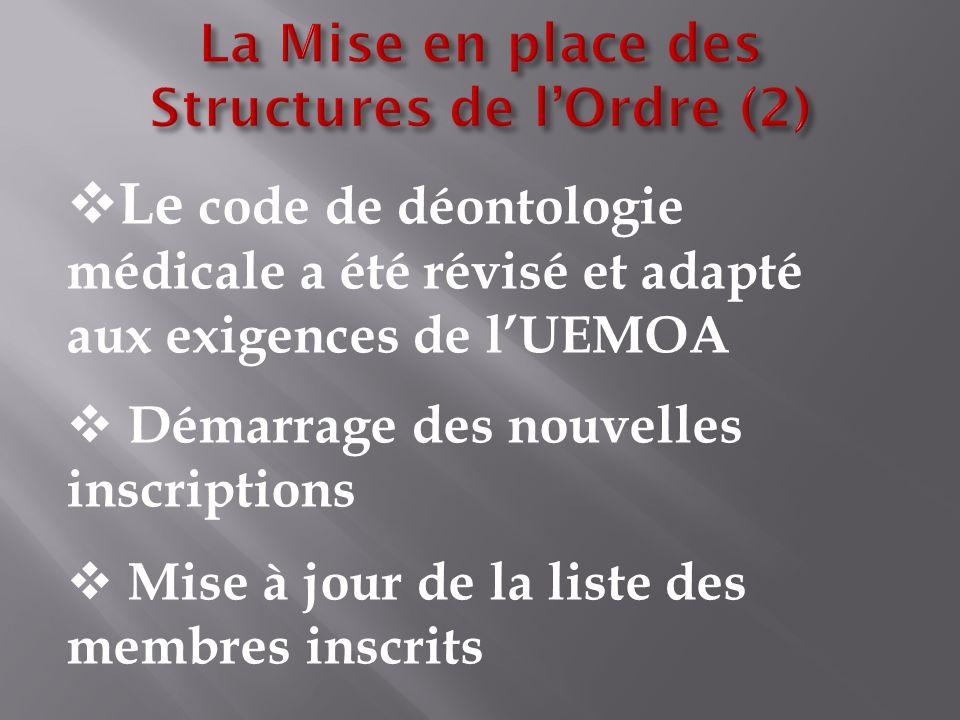 La Mise en place des Structures de l'Ordre (2)