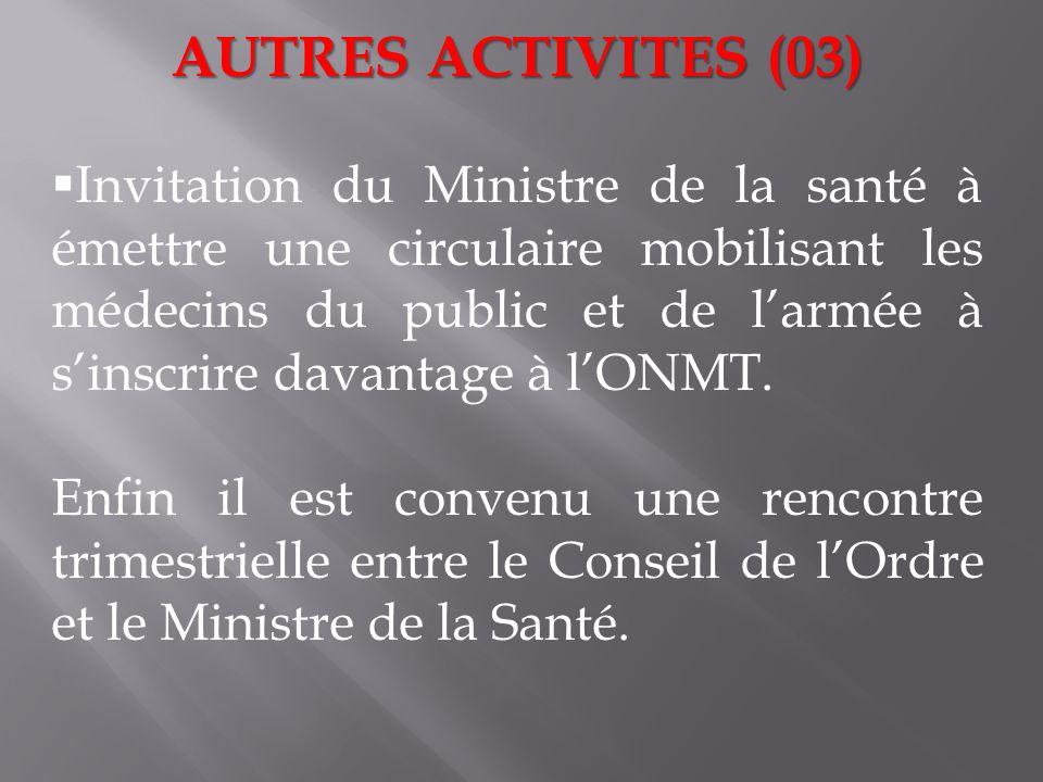 AUTRES ACTIVITES (03)