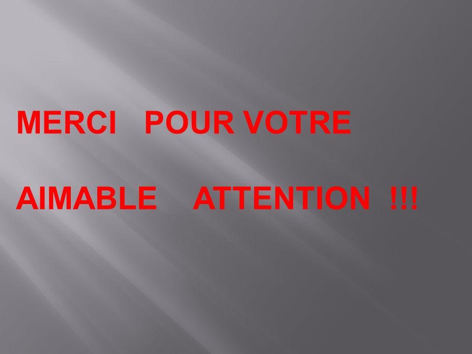 MERCI POUR VOTRE AIMABLE ATTENTION !!!