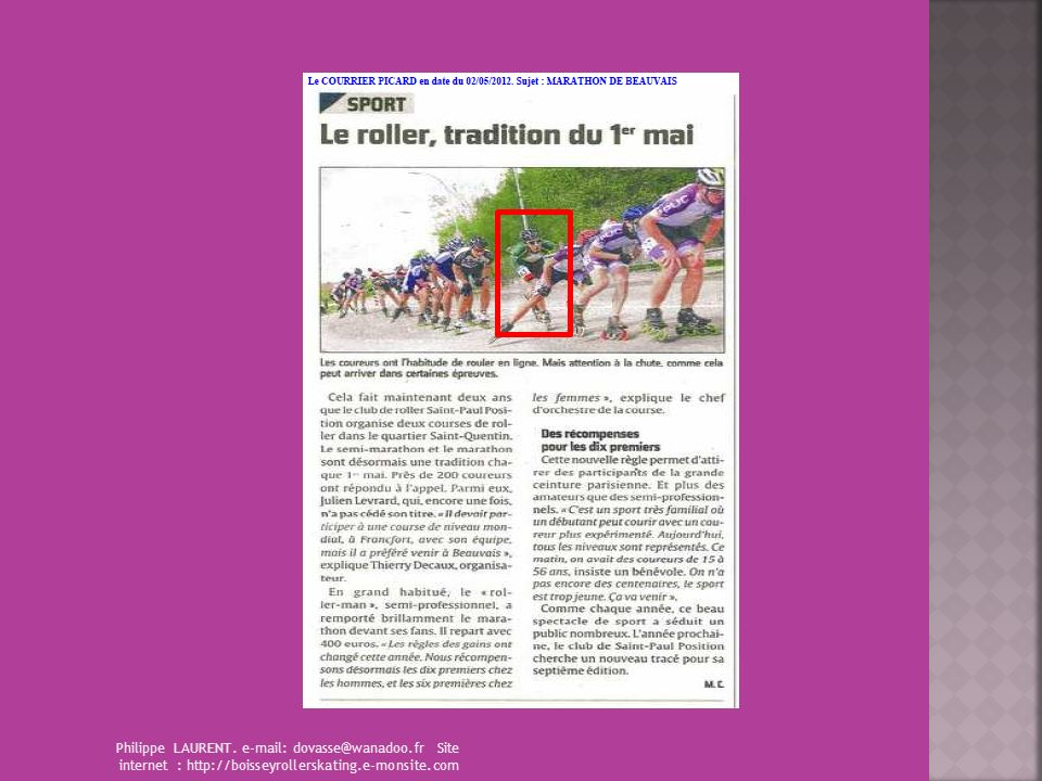 Philippe LAURENT. e-mail: dovasse@wanadoo