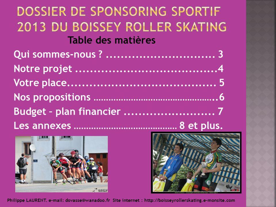 Dossier de sponsoring sportif 2013 du boissey roller skating