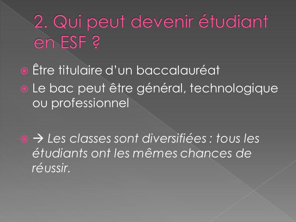 2. Qui peut devenir étudiant en ESF