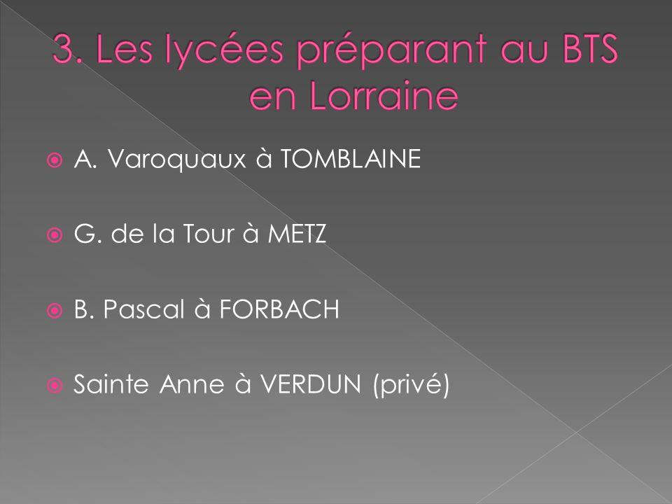 3. Les lycées préparant au BTS en Lorraine