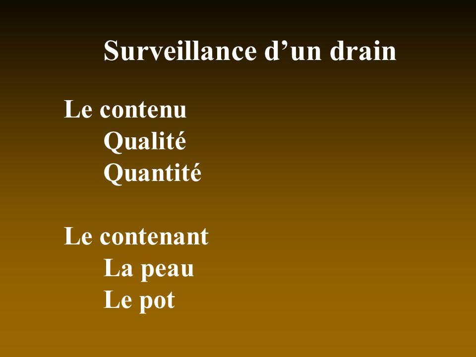 Surveillance d'un drain