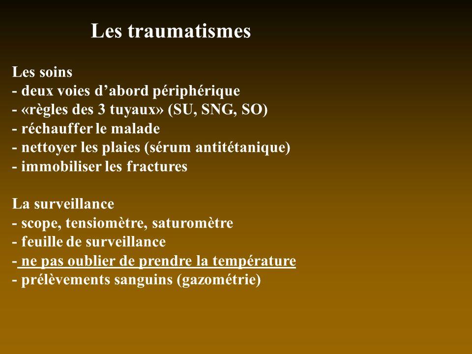 Les traumatismes Les soins - deux voies d'abord périphérique