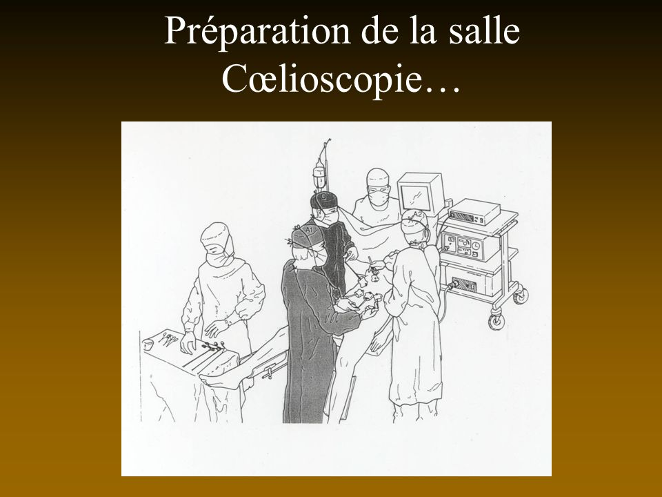 Préparation de la salle Cœlioscopie…