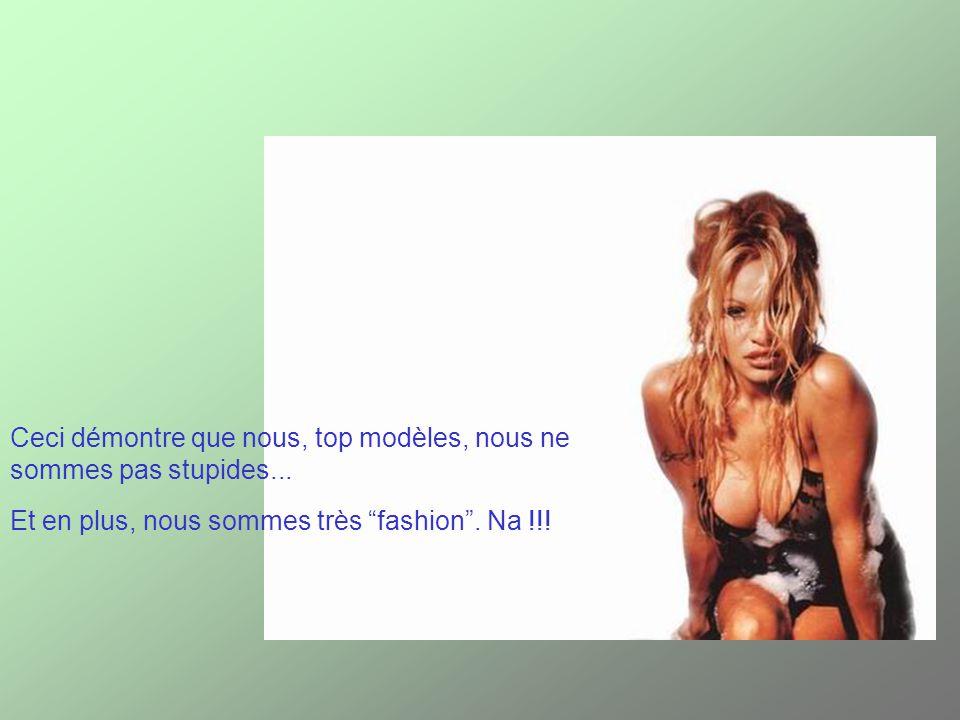 Ceci démontre que nous, top modèles, nous ne sommes pas stupides...