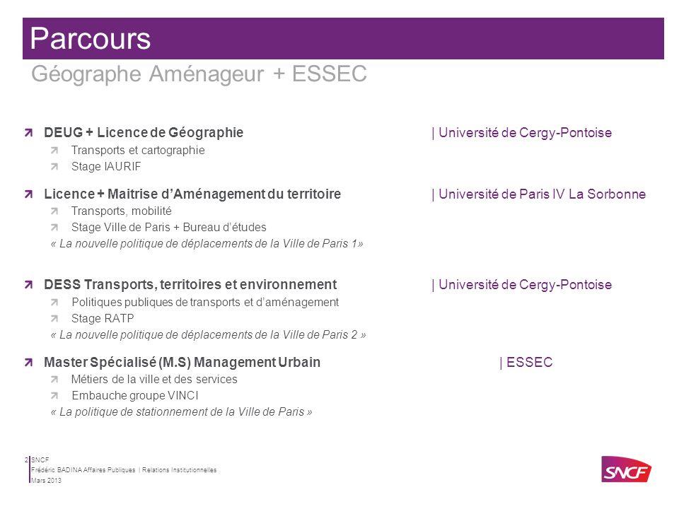 Parcours Géographe Aménageur + ESSEC
